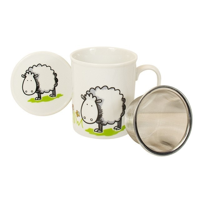 "losse-thee-tea4you-Beker ""Boer Bart"" met filter en deksel Schaap-31"