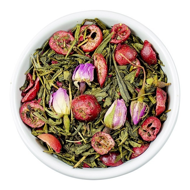 losse-thee-tea4you-Sencha Cranberry-Roos-35