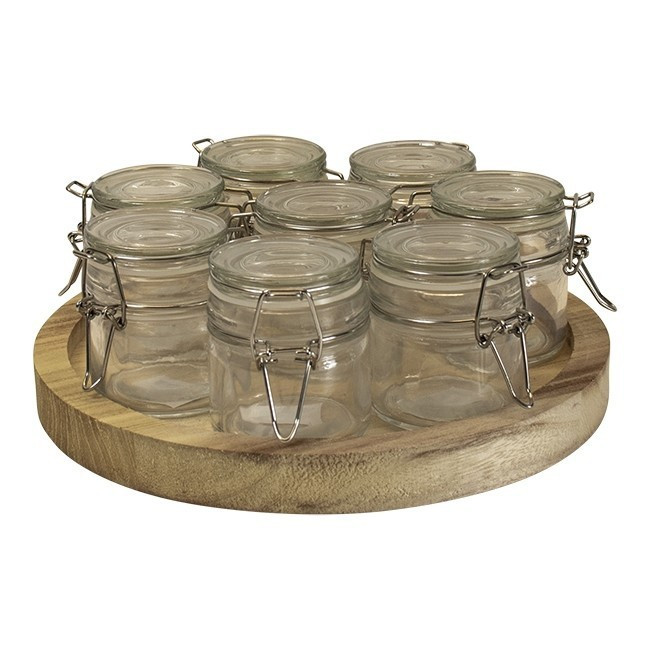 losse-thee-tea4you-Houten plateau naturel diameter 25 + 8 weckpotje 6 x 6,4-31