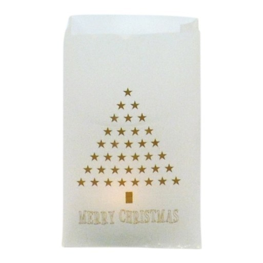 """losse-thee-tea4you-Wax-paper waxinelichthouder """"Merry Christmas""""-31"""