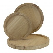 Houten plateau naturel diameter 25